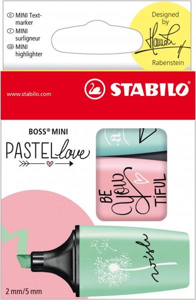 STABILO Textmarker BOSS MINI Pastellove 3er-Etui