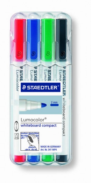 STAEDTLER Whiteboardmarker Lumocolor 341 Universalspitze 4er Etui