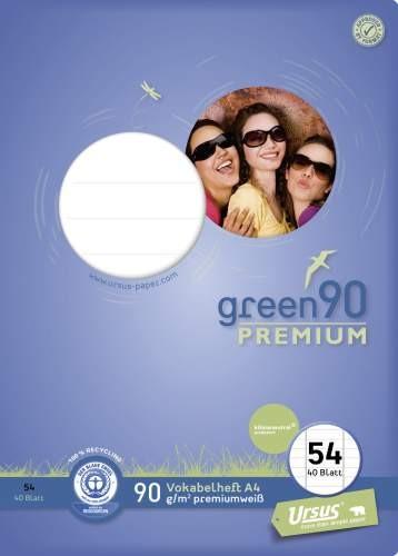Format Werk Vokabelheft A4 Lin.54 40Blatt Ursus Green