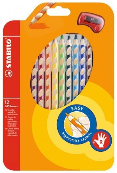 STABILO Farbstift EASYcolors Rechtshänder 12er-Etui