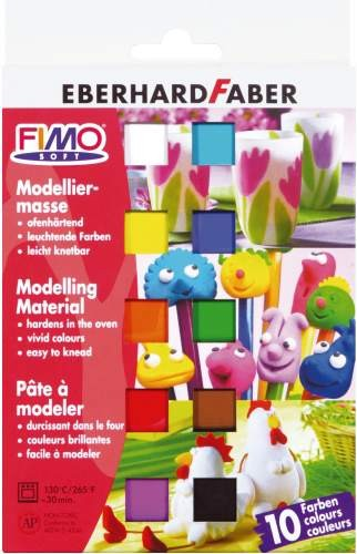 STAEDTLER Modelliermasse FimoSoft 10 Farben
