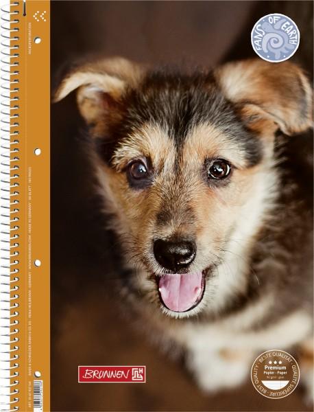 Baier & Schneider Collegeblock A4 Lin.27 90g FoE Hunde