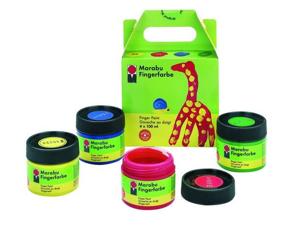 Marabu Fingerfarbe 4er-Set