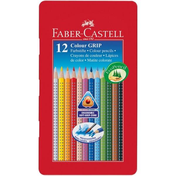 A.W. Faber-Castell Buntstift Colour GRIP 12er Metalletui