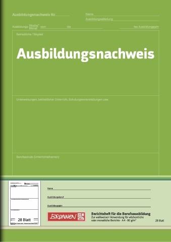 Baier & Schneider Ausbildungsnachweis-Heft A4 W/M-Bericht