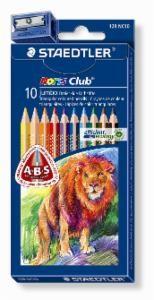 STAEDTLER Farbstift Noris Club® jumbo dreikant Etui 10 Farben mit Spitzer