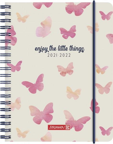 Baier & Schneider Schülerkalender 21/22 A6 2Seiten=1Woche PP Butterfly