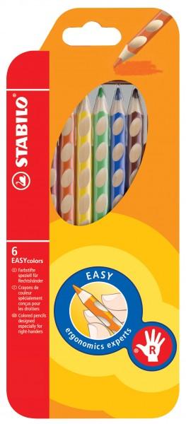 STABILO Farbstift EASYcolors Rechtshänder 6er-Etui