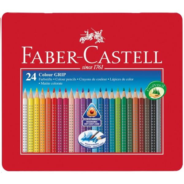 A.W. Faber-Castell Buntstift Colour GRIP 24er Metalletui