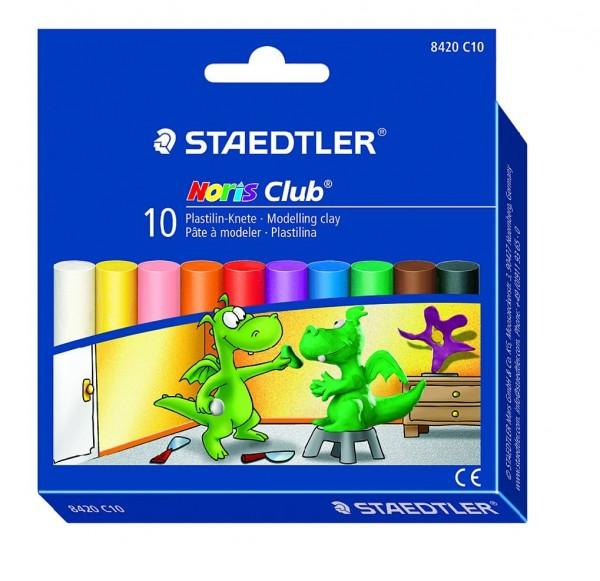 STAEDTLER Plastilin-Knete Noris Club 8420 10 Farben
