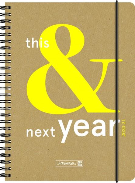 Baier & Schneider Schülerkalender 20/21 A5 2Seiten=1Woche Recyclingleder This&Next