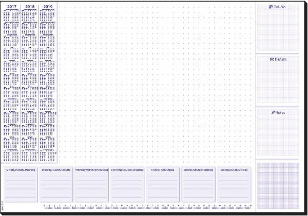 Sigel Schreibunterlagenblock 60x41cm Lilac 30Blatt