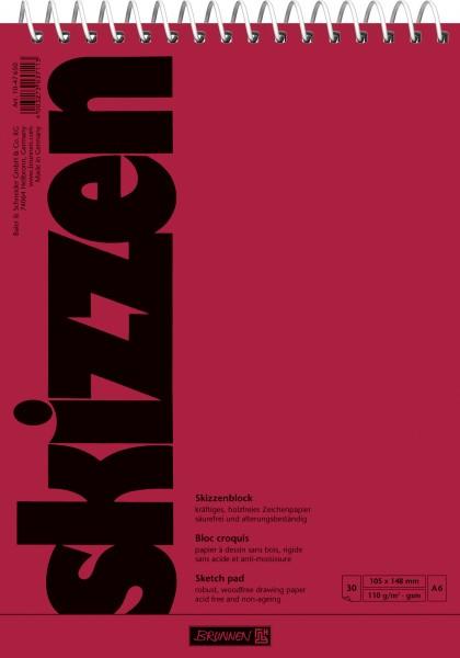 Baier & Schneider Skizzenblock A6 110g 30Blatt Spirale