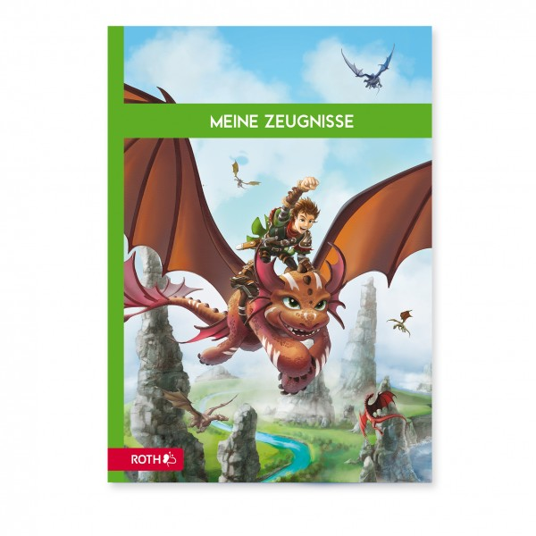 """Zeugnismappe Design Effekt """"Drachenjäger"""" 10Hüllen"""