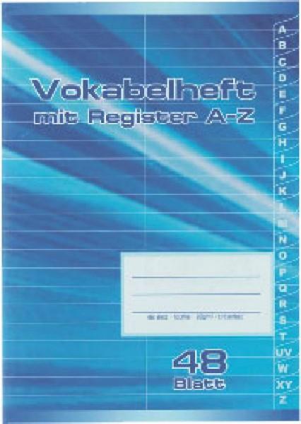 Seehaus Vokabelheft A5 Register A-Z 48Blatt