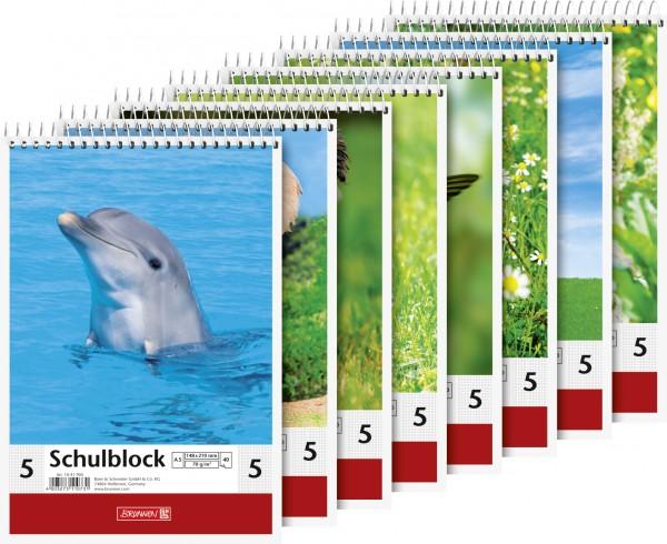 Baier & Schneider Schulblock A5 Lin.5 Spirale