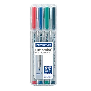 STAEDTLER Folienstift Lumocolor M non-permanent 4St Box