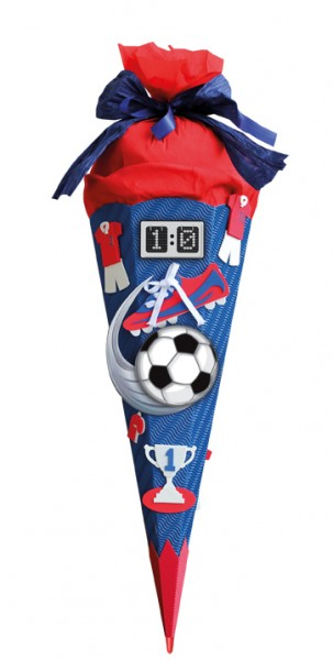 Schultüte Bastelset Soccer 68 cm rot