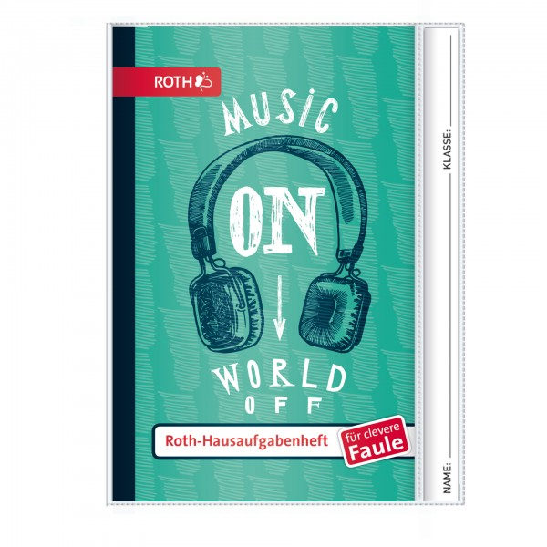 """Roth Hausaufgabenheft Teens für clevere Faule """"Music On"""""""