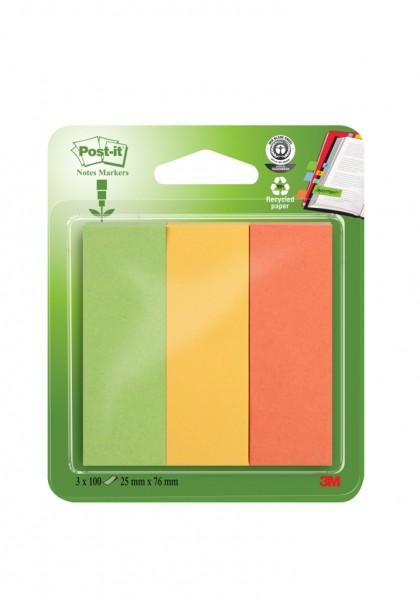 3M Haftstreifen Page Marker breit Recycling