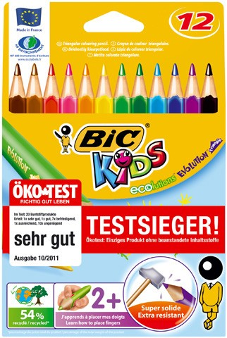 BIC Buntstift ECOlutions EVOLUTION Triangle Kartonetui 12 Farben