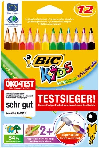 BIC Buntstift ECOlutions EVOLUTION Triangle Kartonetui 12 Farben