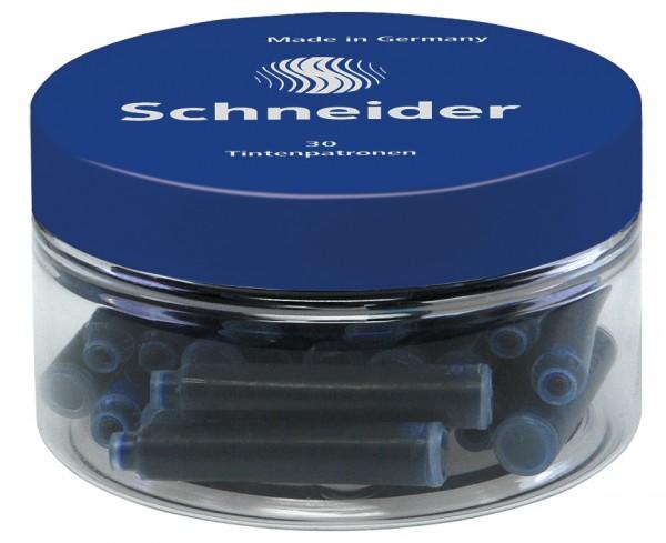 Schneider Schreibgeräte Tintenpatronen in Runddose blau