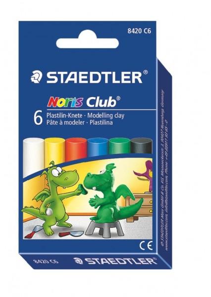 STAEDTLER Plastilin-Knete Noris Club 8420 6 Farben