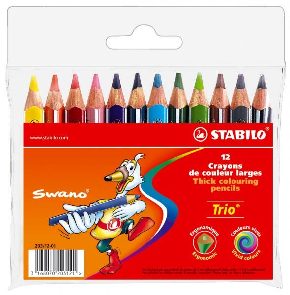STABILO Farbstift Trio Etui 12 Farben kurz