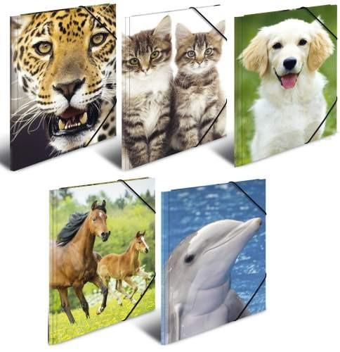 HERMA Eckspanner A4 Tiere sortiert