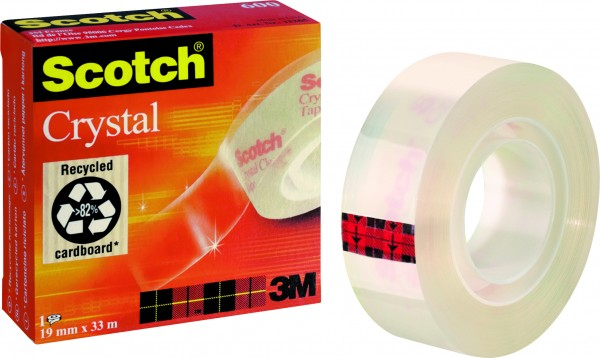 3M Scotch Klebefilm Crystal Clear 600 19mmx33m