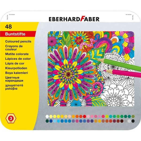 Eberhard Faber Buntstift hexagonal 48er Metalletui
