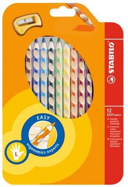 STABILO Farbstift EASYcolors Linkshänder 12er-Etui