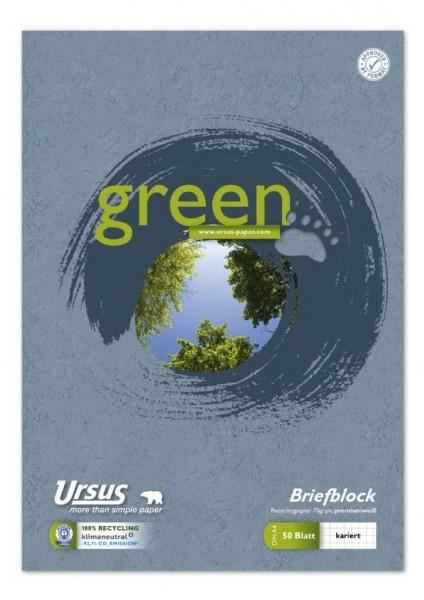 Format Werk Briefblock Ursus® Green A4 kariert 50Blatt 70g/m² 5mm