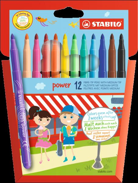 STABILO Fasermaler Power 12er-Etui