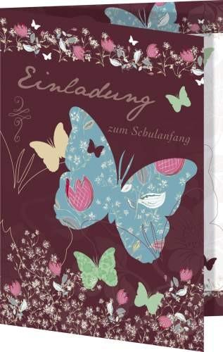 Nestler Einladungskarte Schmetterling mit Umschlag