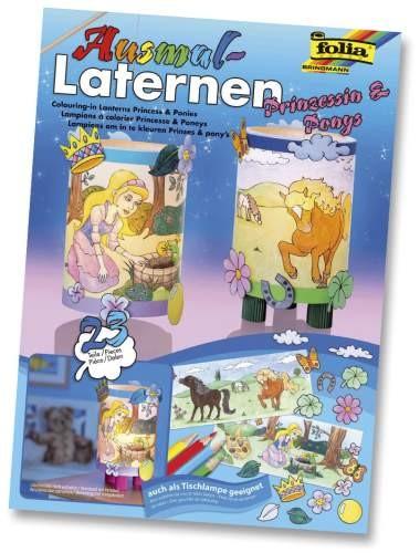 Folia Laterne Bastelset Prinzessin & Ponys 2 Stück