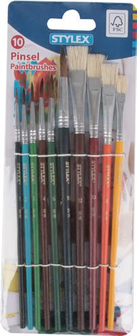 Stylex Schreibwaren Schulmalpinsel-Set 10teilig
