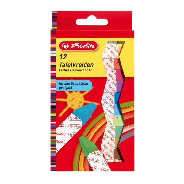 Pelikan Herlitz Wandtafelkreide 12er farbig sortiert