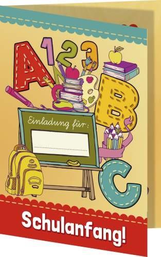 Nestler Einladungskarte ABC mit Umschlag