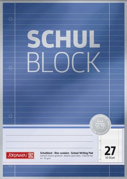 Baier & Schneider Schulblock A4 Lin.27 Premium