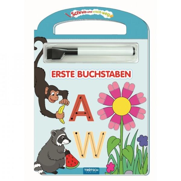"""Trötsch Schreib-und-wisch-weg """"Erste Buchstaben"""" mit Stift"""