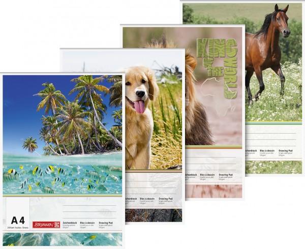 Baier & Schneider Zeichenblock A4 120g 20Blatt Tiere und Natur