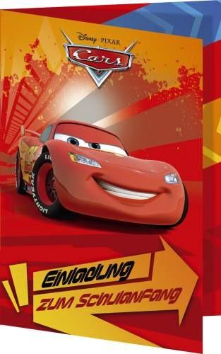 Nestler Einladungskarte Disney-s Cars mit Umschlag