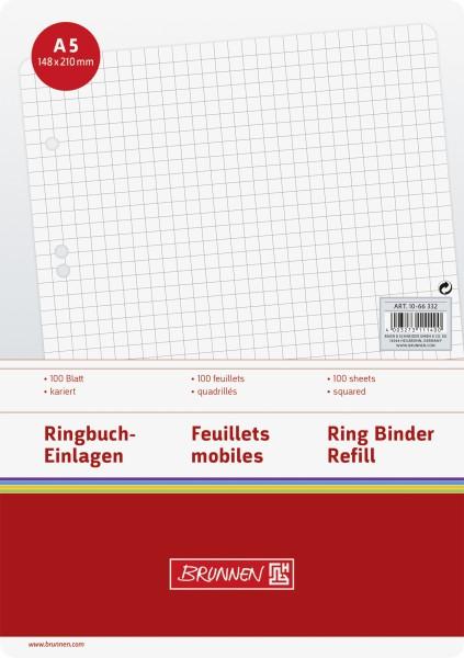 Baier & Schneider Brunnen Ringbucheinlage A5 kariert