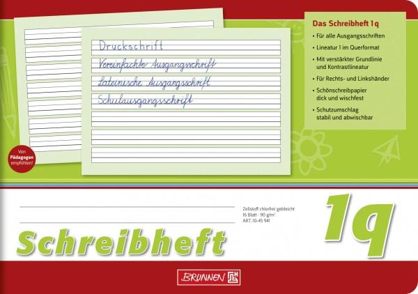 Baier & Schneider Brunnen Schreibheft A5quer Lin.1q 16Blatt
