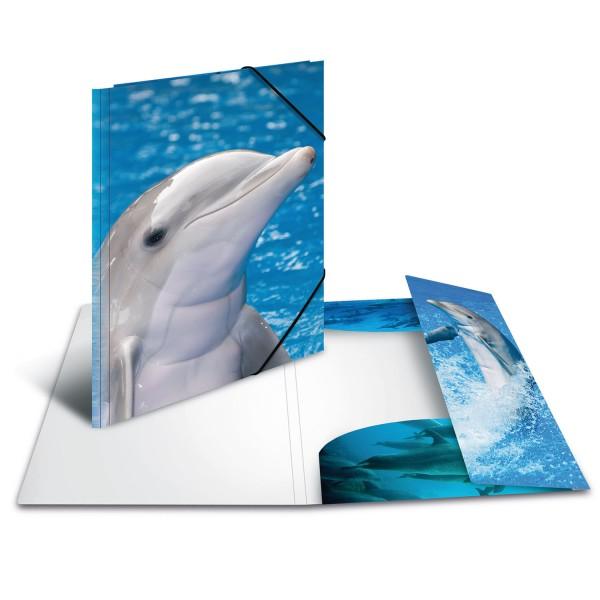 """HERMA Zeichenmappe A3 PP """"Delfin"""""""