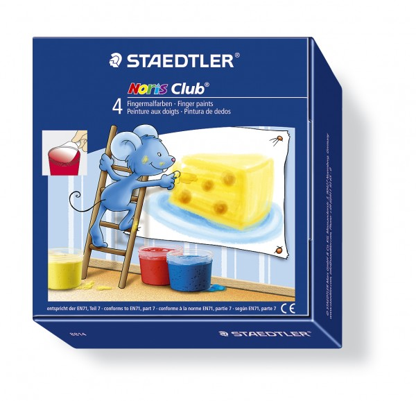 STAEDTLER Fingerfarbe Noris-Club Mali 4er-Set