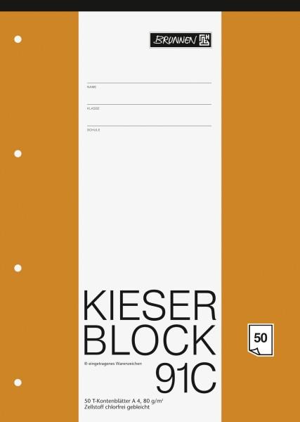 Baier & Schneider KIESER-Block A4 T-Konten 50Blatt