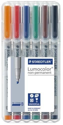 STAEDTLER Folienstift Lumocolor B non-permanent 6St Box